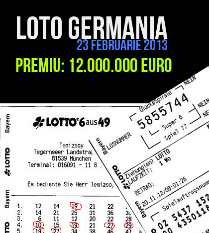 Loteria germana 23 Februarie 2013