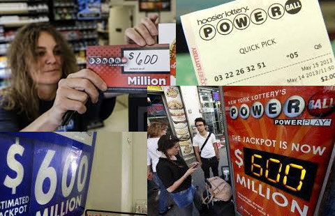 Jackpot 600 million Powerball