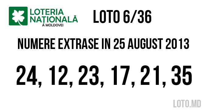 loto 636 din 25 August 2013