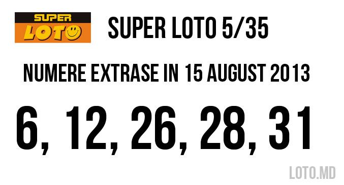 super loto 15 august