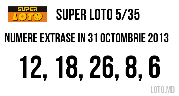 super loto 31 octombrie 2013