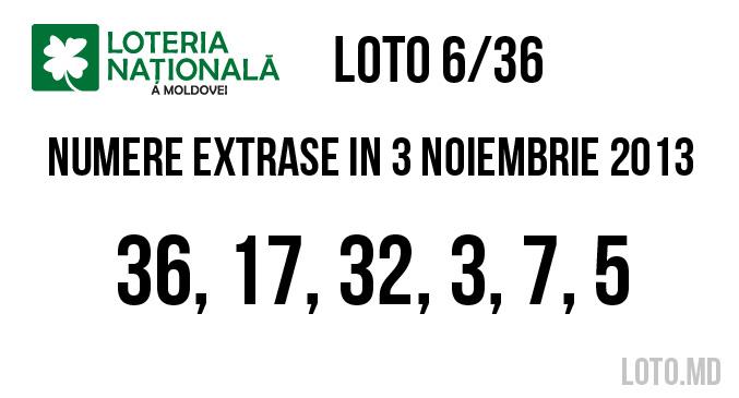loto 3 noiembrie 2013