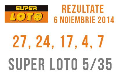Rezultate super loto 6 noiembrie