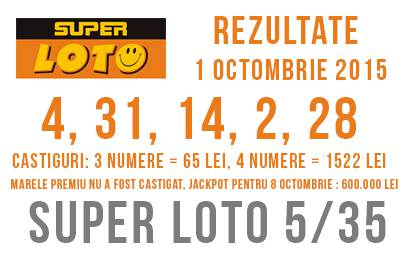super loto 1 octombrie