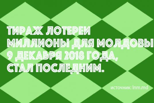 """Loteria Națională """"Milioane pentru Moldova"""""""